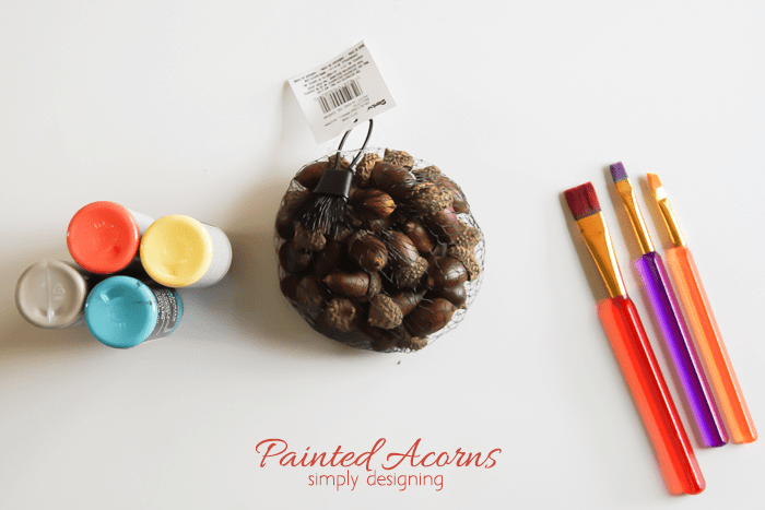 Painted Acorn Decor - supplies