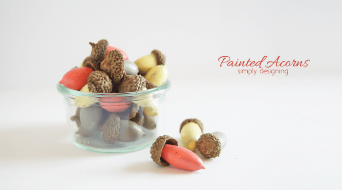 Painted Acorn Decor