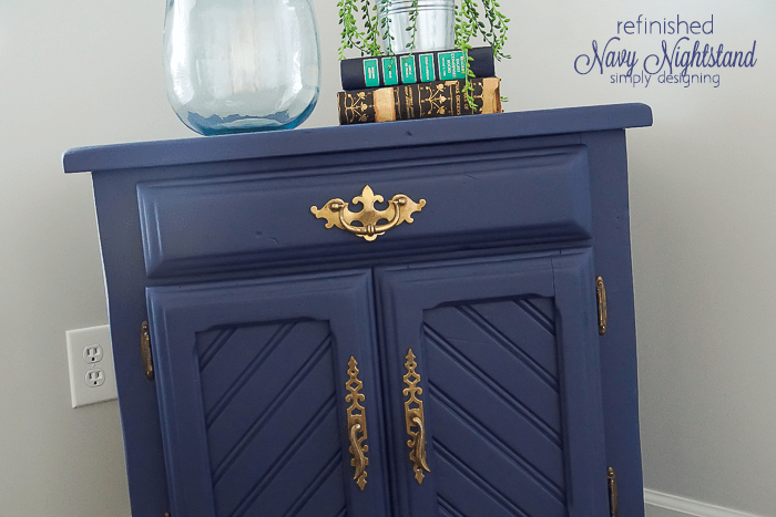 Refinished Nightstand - such a fun and simple way to transform a cheap nightstand into something amazing