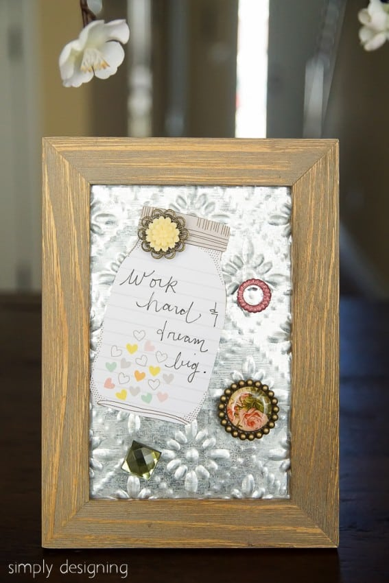 Tin Ceiling Tile Message Board-07215