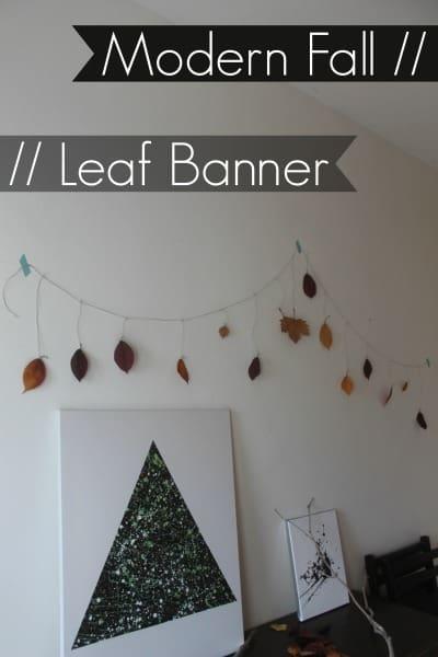 modern leaf banner
