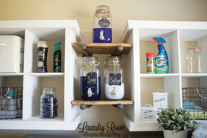 Laundry Room Make Over - Industrial Shelves