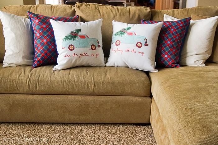 DIY Holiday Pillows