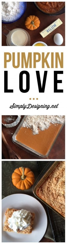 Pumpkin Love Cake - this simple pumpkin recipe is simple to make and absolutely delicious! Perfect for the fall!