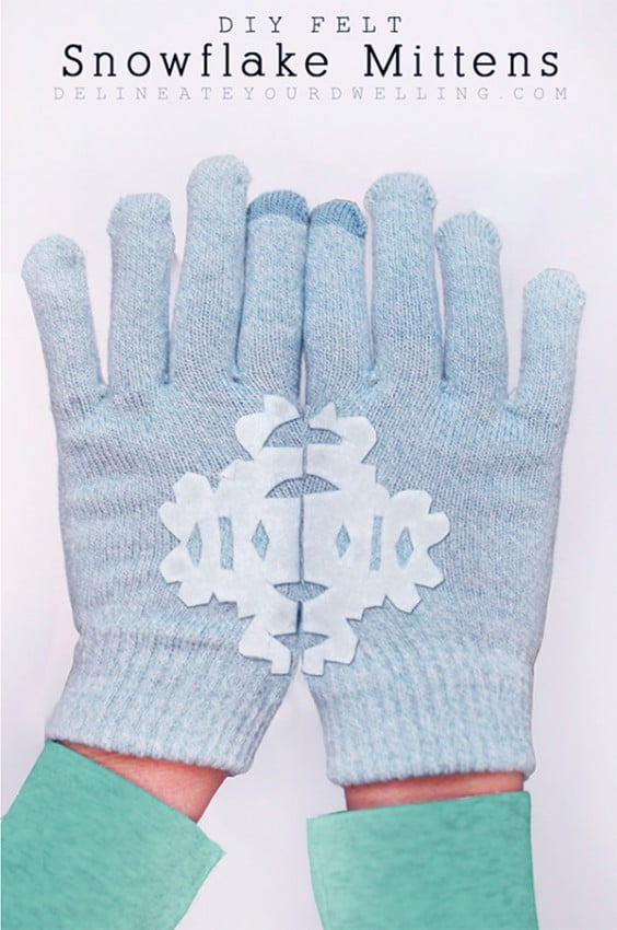 DIY-Felt-Snowflake-Mittens