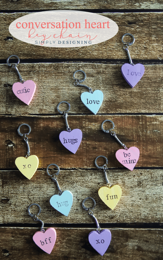 Conversation Heart Key Chain - such a fun and simple valentines day craft
