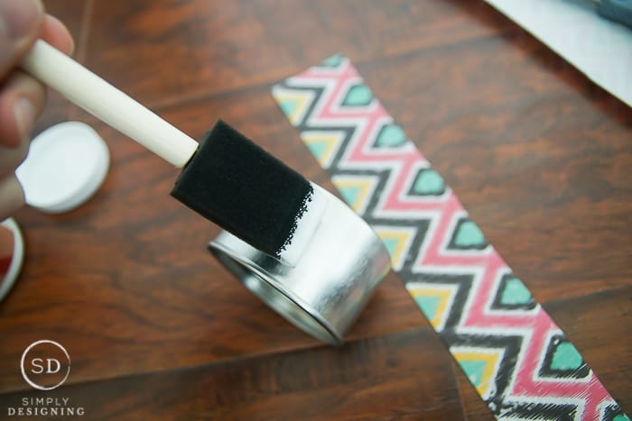 how to make Tribal Print Tins