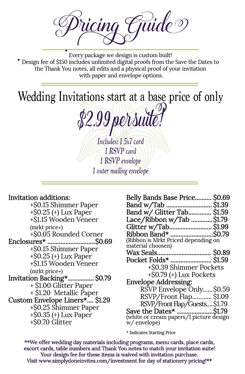 Investment simply done invites you only get married once so let us help you send out the perfect wedding invitation if you have any questions please contact us today stopboris Image collections