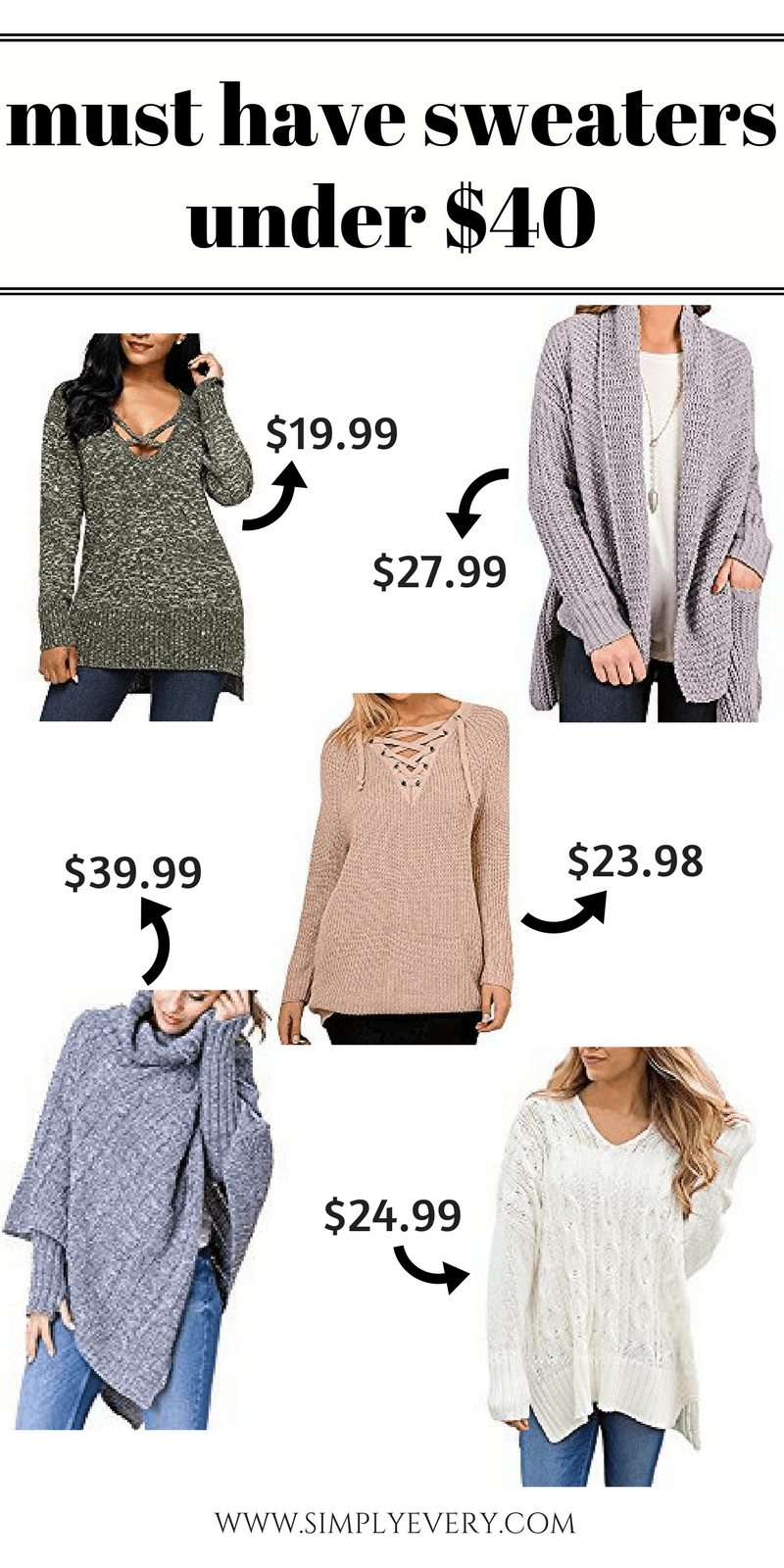 must have sweaters under forty dollars, winter fashion, winter style, cozy sweaters