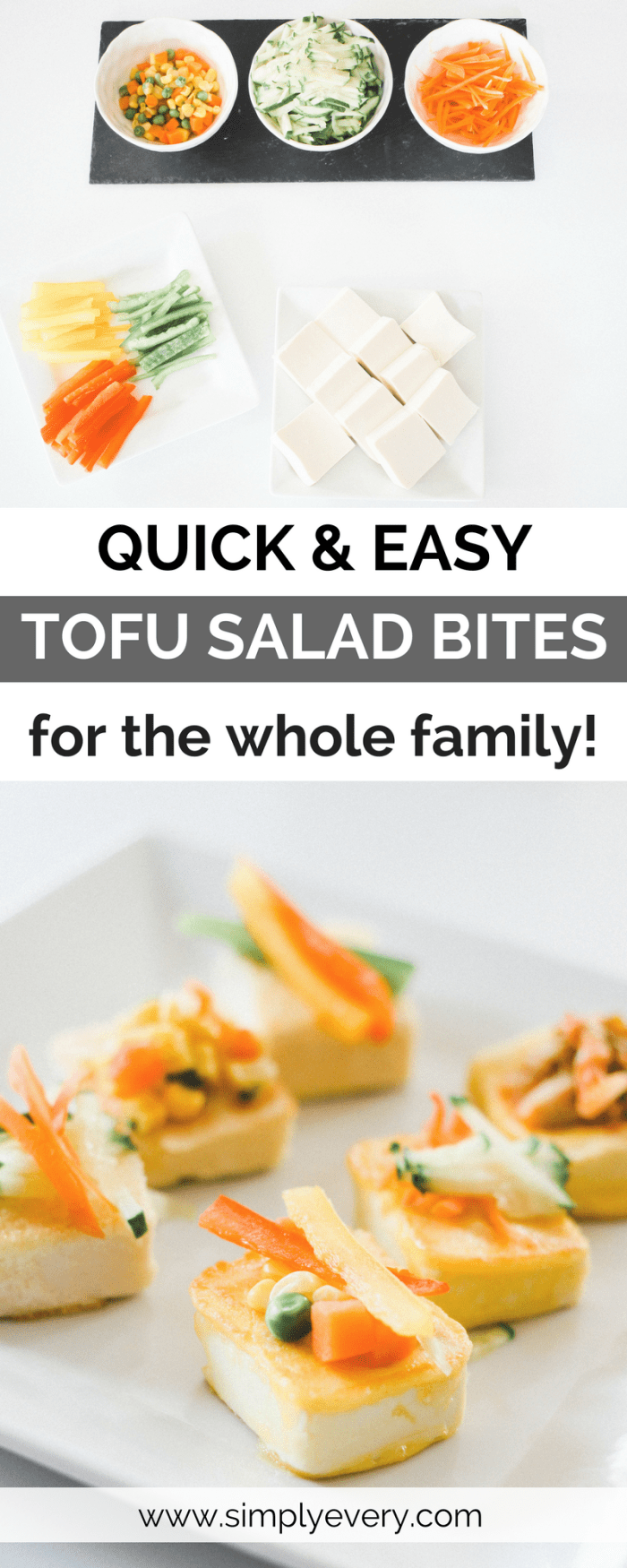 Quick and Easy Tofu Salad Bites