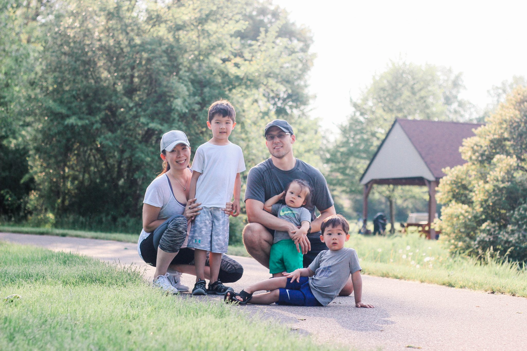 active lifestyle family of five