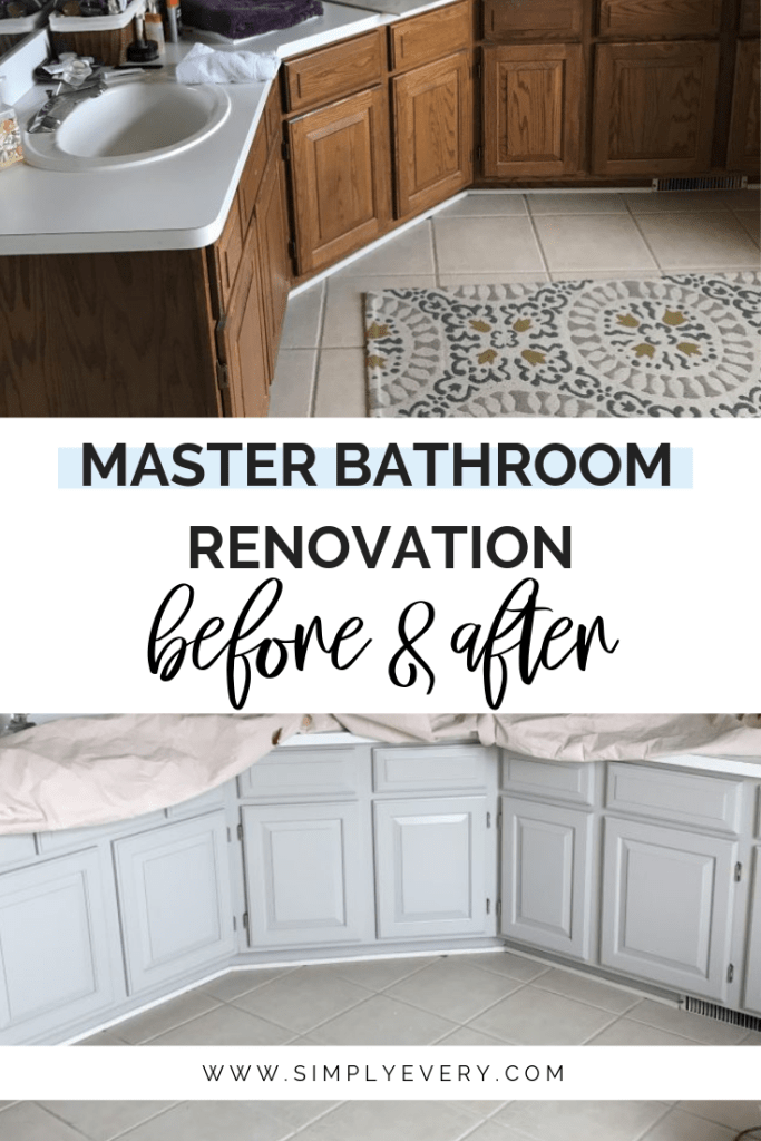 Master Bathroom Renovation - Before & After
