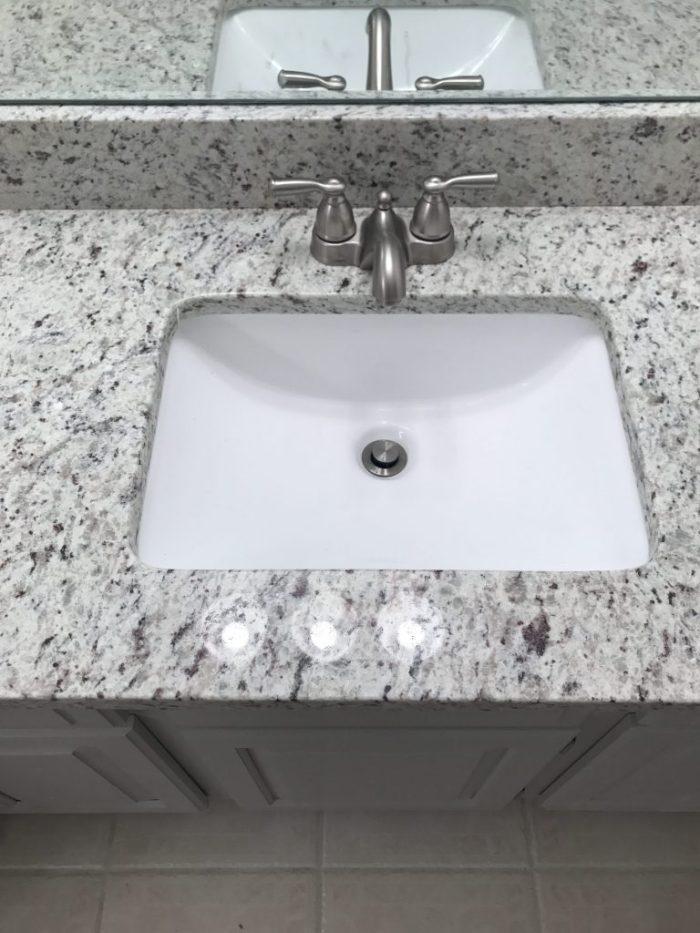 Granite - Our master bathroom renovation