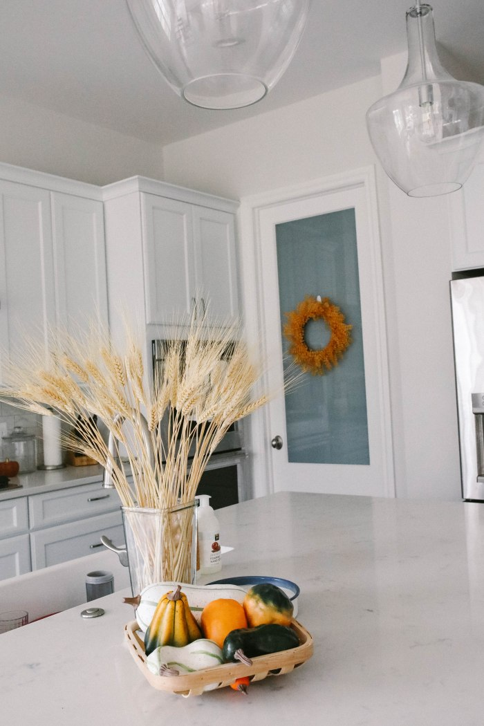 fall home decor counter top