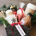 A Homemade Christmas Gift: Hot Cocoa Gift Basket