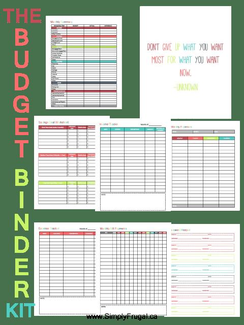 Budget Binder Kit