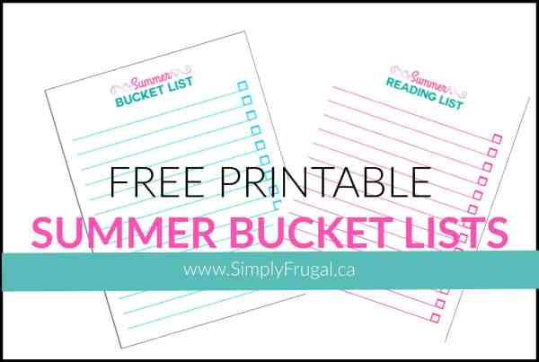 Free printable summer bucket lists! Make sure you get all the fun things done that you want to do this summer!