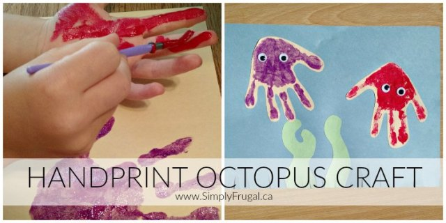 Handprint Octopus Craft 2