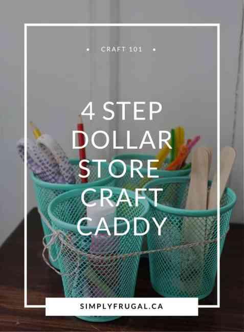 dollar store craft, frugal craft, easy craft, simple craft, DIY, organization