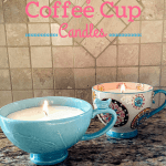 A Homemade Christmas Gift: Coffee Cup Candles