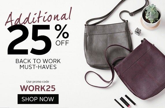 Bentley: Extra 25% off The Back To Work Selection