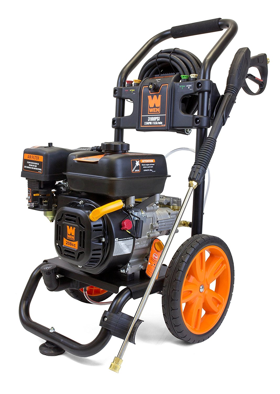 WEN PW31 3100 PSI Gas Pressure Washer, 208 cc