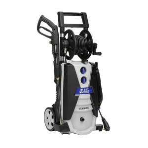 AR Blue Clean AR390SS 2000 psi Electric Pressure Washer with Spray Gun, Wand, 30' Hose & 35' Power Cord, Blue
