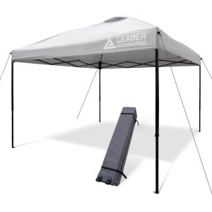 Leader Accessories 10' x 10' Instant Canopy Pop Up Canopy Straight Leg Wheeled Carry Bag included