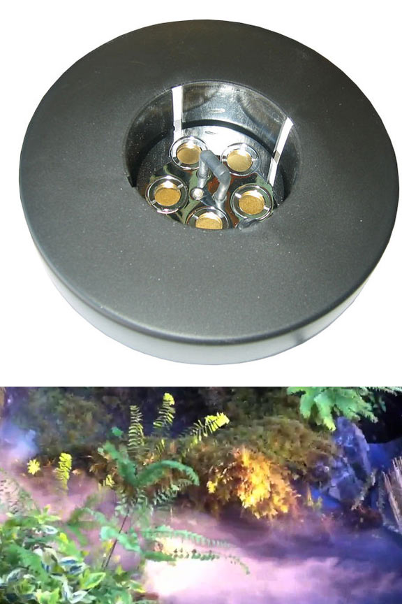 5 Disc Pond Fogger With Outdoor Transformer And Floating Ring