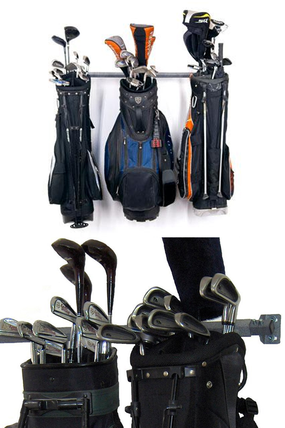 small golf bag storage rack 3 bags or carts
