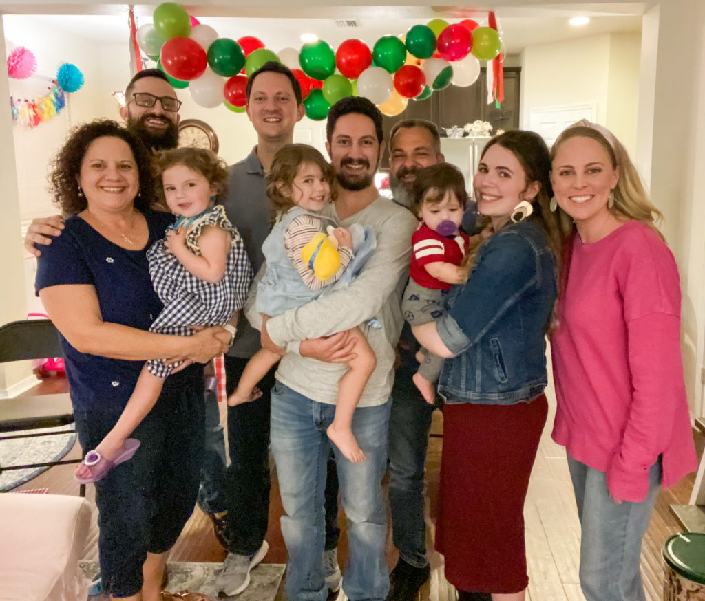 the Cavaliere family at Caroline's 3rd birthday party
