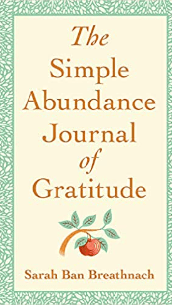 Simple Abundance Journal of Gratitude book