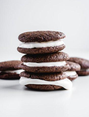 gluten free chocolate whoopie pie recipe with marshmallow creme