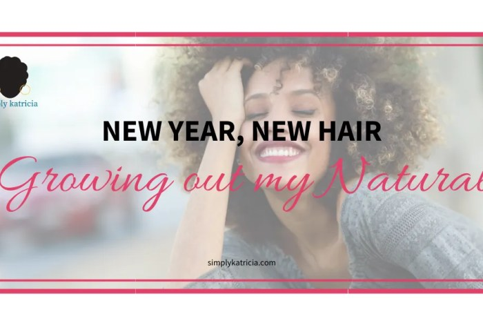 New Year, New Hair: Growing out my Natural