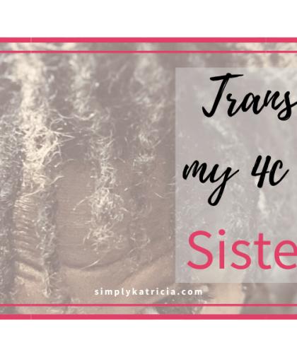 transition to sisterlocks