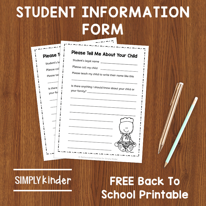 Students Information form