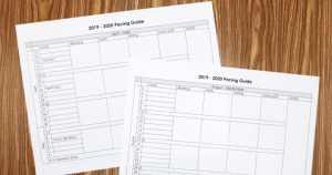 Free Pacing Guide from Simply Kinder