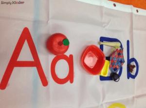 Alphabet Center, Simply Kinder, Kindergarten blog, Alphabet