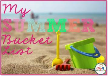 Summer Bucket List from Time 4 Kindergarten!