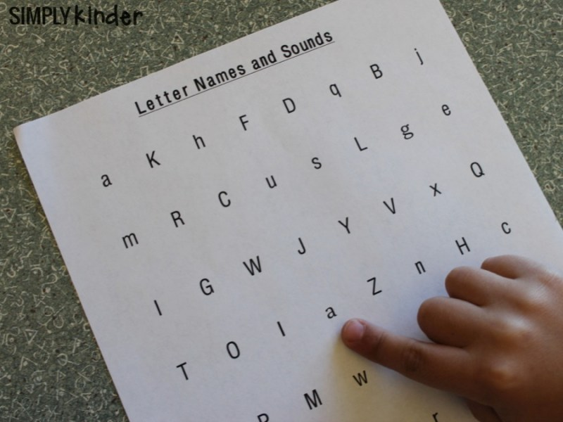 Free letter naming fluency printables.