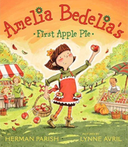 Amelia Bedelia's First Apple Pie and other great books for teaching about apples!