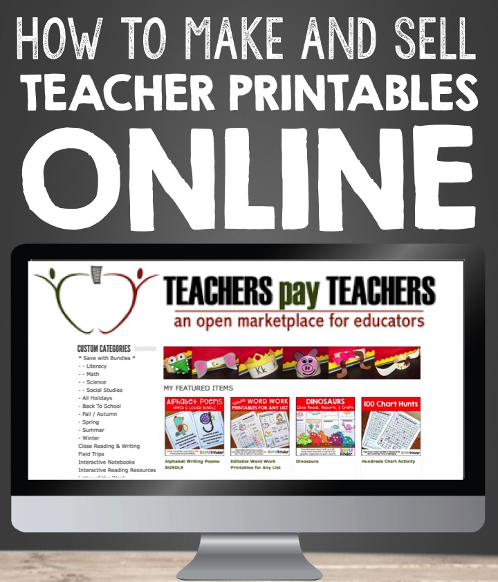 How To Make And Sell Teacher Printables Online - Simply Kinder