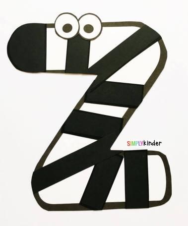 Alphabet Notebooks with Lower Case Alphabet Crafts and Printables - Letter Z Alphabet Craft