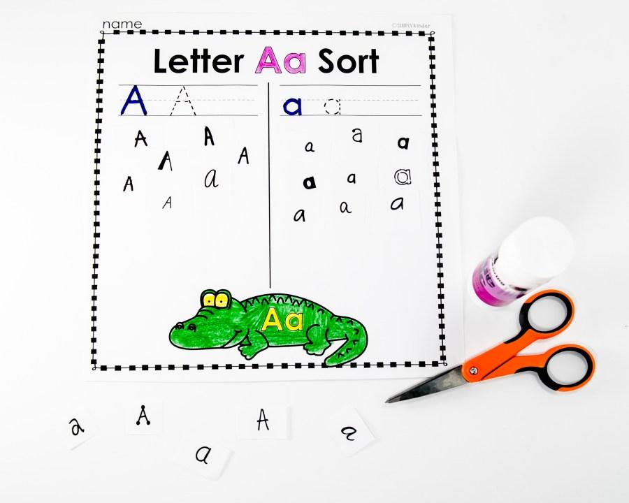 Free Letter Sort Activity for Kindergarten