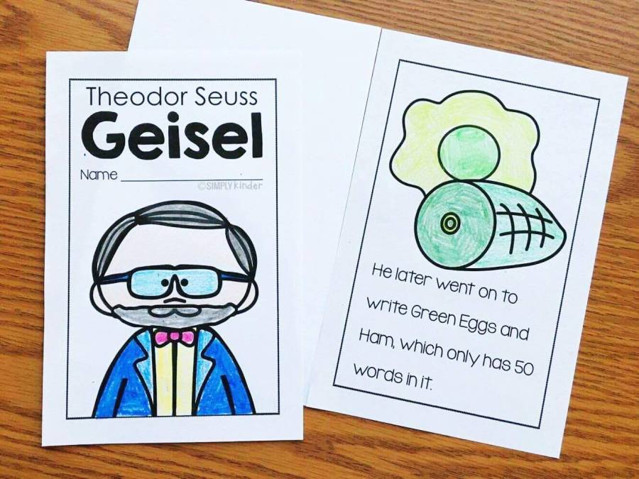 A fun and easy to read Dr. Seuss book for kindergarten, preschool, and first grade. Learn all about Theodor Geisel with your students with this fun easy to read reader.