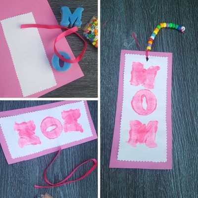 easy mother's day bookmark gifts painting names