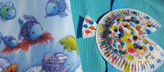 rainbow fish paper plate craft feature