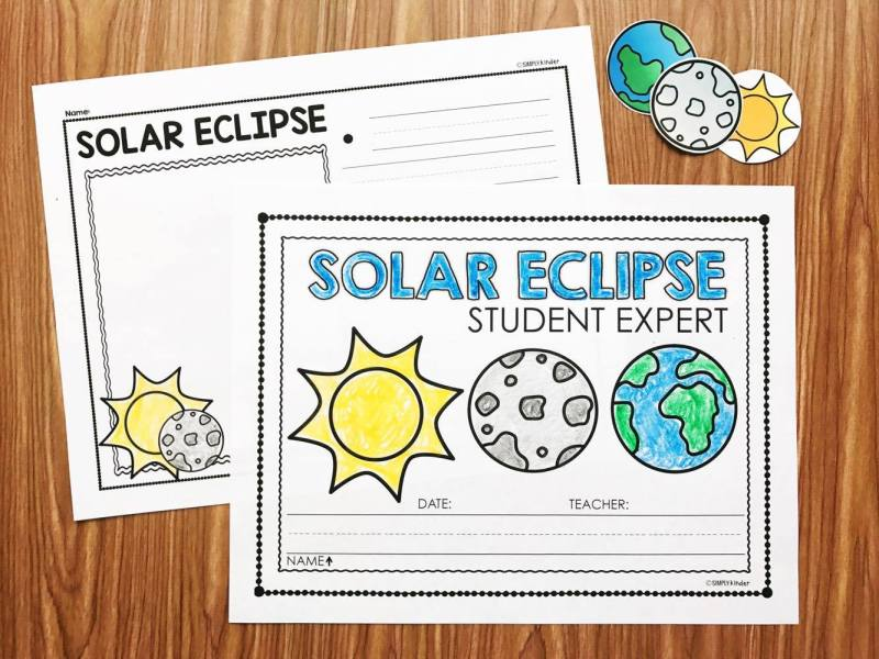 Eclipse Activities for Kindergarten.