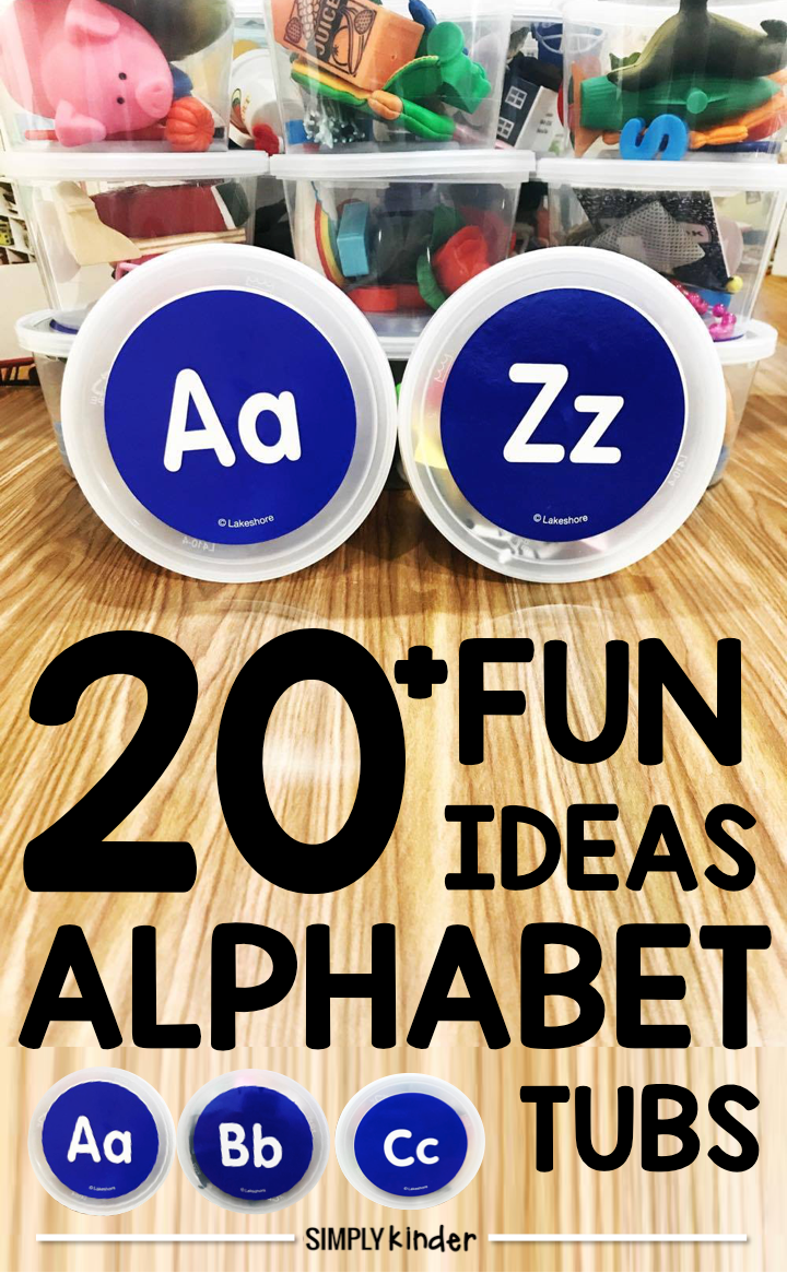 Are you looking for some new ideas to do with your Alphabet Tubs? We share 30 of our favorite ways to use alphabet objects to learn your letters and sounds!