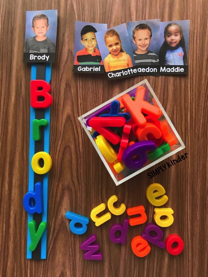 Help students practice their names with this fun Paint Stick Name activity from Simply Kinder. Includes two free printables! Perfect for preschool and kindergarten!